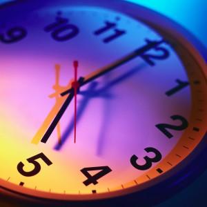 Clock Reading Five O'Clock