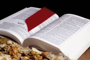 bible bookmarked